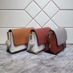 New Color Collided Shoulder Bags  All Cowhide Original Hardware Inner Space Fully Adjustable Shoulder Strap