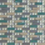 Modèle en verre de puzzle de mosaïque en métal de mélange de bande pour la décoration intérieure et extérieure