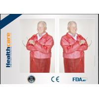 Conformable Medical Disposable Laboratory Coats With Pocket Collar Knitted Anti - Fluid