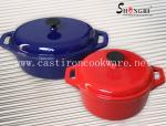 鋳鉄のエナメルのカセロール/鍋