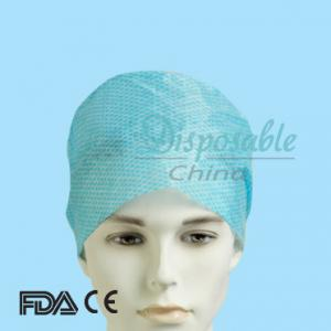 China Hot selling colorful single elastic nonwoven disposable mob cap on sale