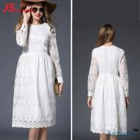 Promotional Custom Cocktail Party Dress White Lace Type A Line Silhouette
