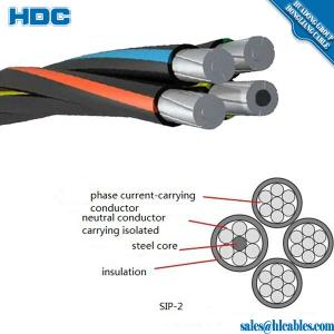 China 1kv aluminum conductor XLPE insulated 4*70mm2 ABC Cable on sale