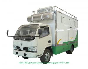 China DFAC RHD / LHD 4x2 / 4x4 Mobile Kitchen Truck For Food Cooking And Selling on sale