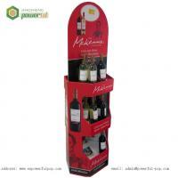 China Wine Drink Floor Display, Cardboard Display Rack For Wine, Corrugated Wine Bottle Display Rack on sale