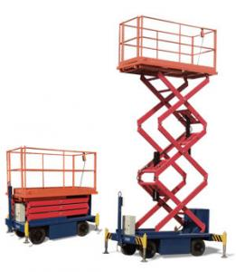 China One Man Operated Mobile Aerial Work Platform 1.8 * 1 M Platform Size For Cleaning supplier