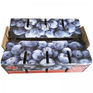 China Single Wall Recycled Materials Cardboard Fruit Boxes , Apple Carton Box on sale