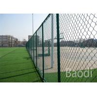 Vinyl Coated Chain Link Fence Fabric Roll , Chain Wire Mesh Fencing With Long Service Life