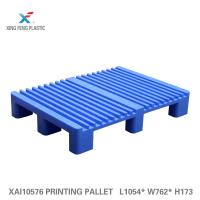 Plastic pallet  use in printing industry with printing machine HEIDELBERG CD 102 converting pallets for printing
