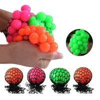 Bead Water Walking Ball Rubber Squeeze Grape Ball Toy Mesh Squishy Ball 5cm 6cm