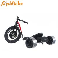 Red Color Fat Tire Electric Drift Trike For Adults With Display And Battery