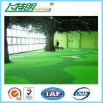 China Green Outdoor Artificial Grass Carpet Backyard Turf NET Flat Shape 3'' / 4'' wholesale