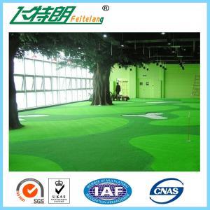 China Green Outdoor Artificial Grass Carpet Backyard Turf NET Flat Shape 3'' / 4'' on sale