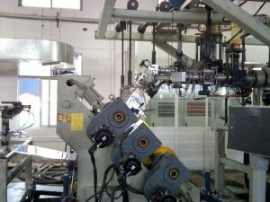 Quality Automatic Single Screw Pp Extruder Machine , Pp Sheet Extrusion Line 110KW for sale