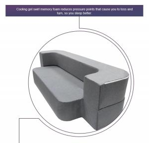 China Grey Modern Foam Pull Out Sofa Bed?Comfortable Relax Queen Size / Twin Size on sale
