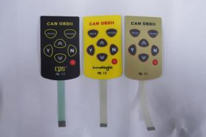 China Customized PET PC 3M 468MP Membrane Keypad Switch for SMD LED Resistors on sale