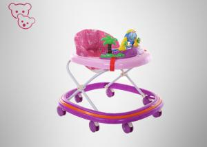 China Qualified Workmanship Foldable Baby Walker  Brake Detachable / Washable Fabric on sale