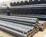 A53 / ASTM 5L Round Hollow Steel Pipe , Seamless Boiler Tubes High Frequency Welded