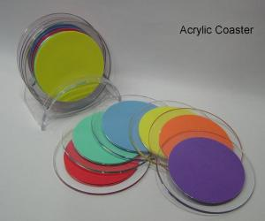 China High Quality Beautiful Shape Acrylic Coasters on sale