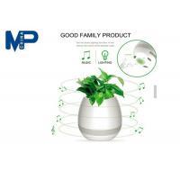Indoor Use Mini Portable Bluetooth Speaker Led Flower Pot With Night Light