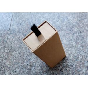 China Corrugated Small Kraft Gift Boxes , Rectangle Shape Small Jewelry Box on sale