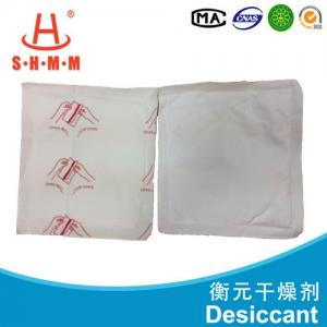 China Calcium Chloride Absorbent Moisture Desiccants 125g Dfm Free Logo Print on sale