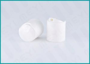 China 24mm White Disc Top Pet Bottle Caps / Shampoo Bottle Cap With Highly Sealed on sale