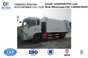 China China-made Chengli factory sale good price 12m3 garbage compactor truck for sale, 10tons refuse garbage compactor truck on sale