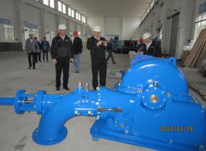China Hydropower Project Turgo Turbine Stainless Steel 750r / Min 0.24 M³/S Discharge on sale