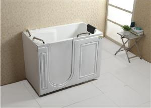 China Air Bubble Massage Walk In Tub And Shower Combination Glossy Surface Finish on sale