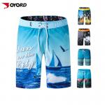 Custom Sublimated Quick Dry Breathable Board Shorts Fabric Stretch