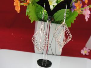 China 925 Sterling Silver Chandlier Earrings Fine Jewelry on sale