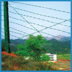 China high quality pvc coated barbed wire fence on sale