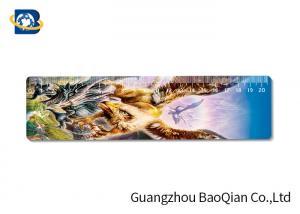 China Cute / Fancy Printing 3D Lenticular Ruler , Plastic Flexible Ruler Customized Shape on sale