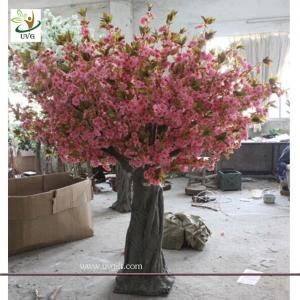 China UVG CHR061 big ornamental cherry tree artificial blossoms for wedding stage decoration on sale