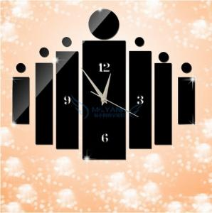 China new digital acrylic mirror wall clocks bedroom wall decoration siver and black wall clocks on sale