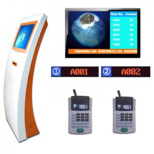 China Multifunction and Multiple Service Counter 50HZ 60HZ 17 Inch Bank Ticketing System on sale