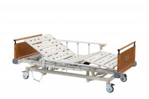 China Adjustable Luxurious ICU Hospital Bed / Medical Patient Bed with Steel Bedboards on sale