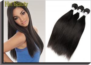 China 6A 完全な端のバージンのペルーの毛の Extentions の絹をまっすぐに等級別にして下さい on sale