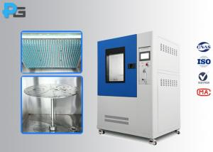 China High Accuracy Filter Rain Test Chamber 0.4mm Nozzle IEC60529 IPX12 With PLC Touch Screen on sale
