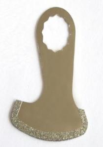 China Shoe Shape Diamond Rock Cutting Blade Environment Friendly Vacuum Brazing Technology on sale