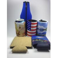 Customized Neoprene can beer stubby cooler holders with lanyard