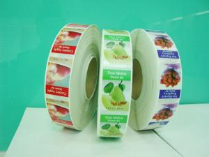 China Green and Healthy Plastic Adhesive Labels For Fruits Sales Promotion on sale