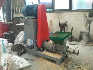 China Screw extruder type wood dust briquette press machines wood charcoal briquette stick extruder making machine on sale