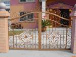 Prefabricated Garden Galvanized 6x6 Wrought Iron Fence