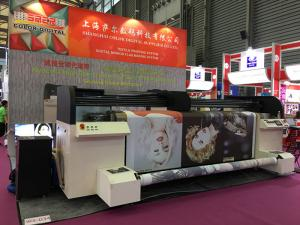 Automatic winding Digital Textile Printer , Print fabric