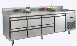 China 473L One Doors Table Reach In Refrigerator Freezer With Backrest , 2245 x700x850 on sale