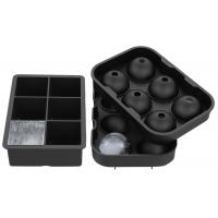 China Flexible Large Square Ice Cube Molds , BPA Free 2 Set Silicone Ice Ball Mold on sale