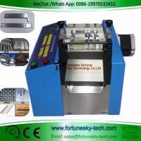 China Stepper Motor Fully Automatic Wire Clutch Cutting Machine Aluminum Copper Plate PV Ribbon Electric Wire Cutting Machine on sale
