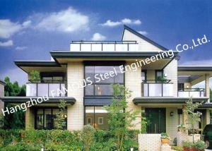 China Prefab House Light Steel Villa Metal Buildings With Welded Frame on sale